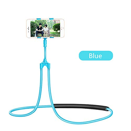 (Yuanzhou Neck Phone Holder Flexible Mobile Phone Stand Hanging on Neck Cell Phone Mount Holder Lazy Necklace Bracket 360 Degree for Smartphone Bed)