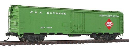 50' REA Riveted Steel Express Reefer - Ready To Run -- Railway Express Agency #7840 (light green)