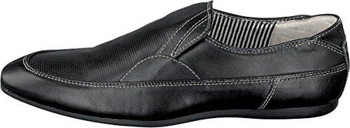 BOXX by MARC Shoes feine schwarze LEDER Herren Schuhe Slipper 3.264.04-19 Gr.40-44 NEU (40)