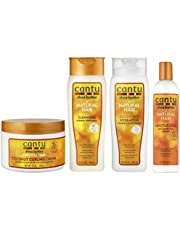 Cantu Coconut Curling Cream 12oz z szamponem i odżywką bez siarczanów, 12 oz i masłem shea, nawilżający Curl Activator Cream 12 oz