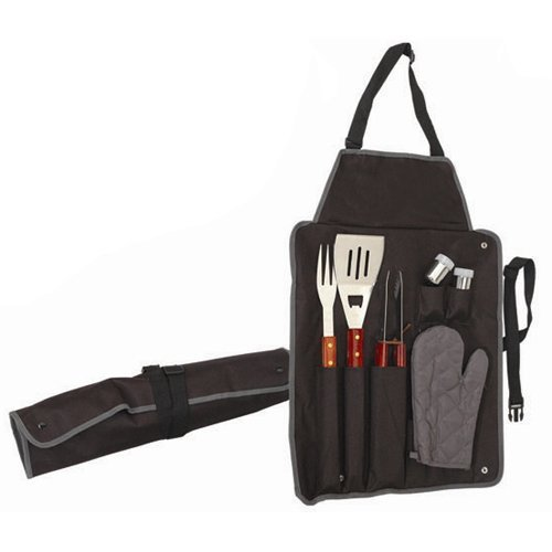 The Ulitimate Barbecue Grilling Apron & 7pc Utensil BBQ Cooking Tool Set