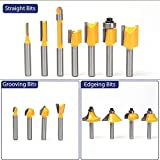 MNA Router Bits Set 15 Pieces 1/4 Inch, Classical