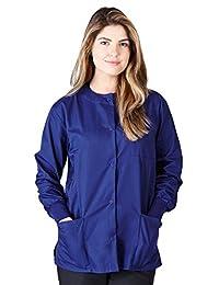 Natural Uniforms Women's Warm Up Jacket (True Navy Blue) (XS) (Plus Sizes Available)