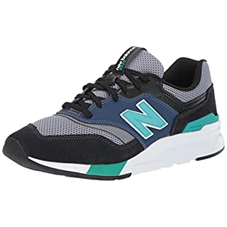 New Balance Men's 997H V1 Sneaker, Black/Verdite, 5.5 M US