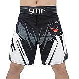 SOTF Mens MMA Stretch Shorts BJJ Grappling Bord