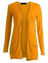 Ladies Women Boyfriend Open Cardigan with Pockets Long Sleeve All Sizes