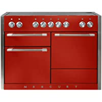 AGA AMC48IN Mercury Series 48 Inch Wide 6 Cu. Ft. Slide In Electric Range with G, Scarlet