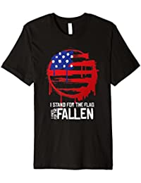 Patriotic American Flag Cross Veterans T-shirt Gift Idea