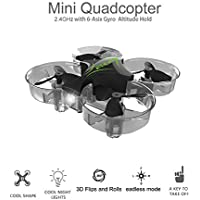 Linxtech XFLY 1603 Ultra Micro Drone with Ducted Fan Mini Quadcopter UAV 6-Axis Gyro Sensor 360° Flip RTF Headless Drone with LED Headlight