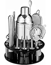 HBlife 18 Piece Cocktail Shaker Set with Rotating Stand