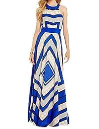 CFD Women's Elegant Sleeveless Chiffon Long Dress