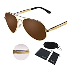 Duco Aviator Style Polarized Driving Sunglasses Metal Frame Uv400 Protection 3026
