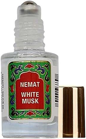 White Musk Perfume Oil Roll-On - White Musk Fragrance Oil Roller (No Alcohol) Perfumes for Women and Men by Nemat Fragrances, 5 ml / 0.17 fl Oz