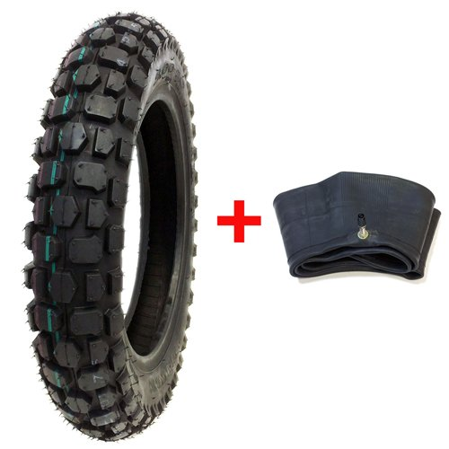 BUNDLE COMBO: Knobby Tire with Inner Tube 3.00 - 10 Front or Rear Trail Off Road Dirt Bike Motocross Pit
