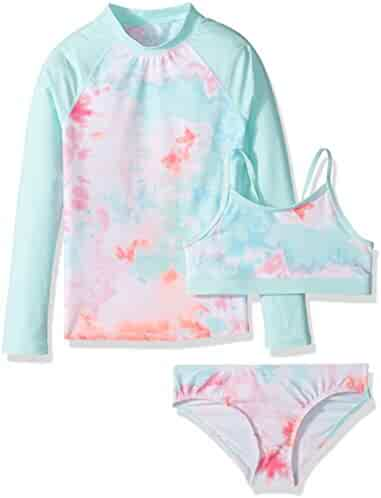 The Children's Place Girls' 3-Piece Rashguard Swim Set