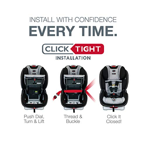 Britax Boulevard ClickTight Convertible Car Seat | 2 Layer Impact Protection - Rear & Forward Facing - 5 to 65 Pounds, Poole