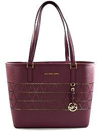 Women's Jet Set Travel Carry All Medium TOTE Leather Handbag
