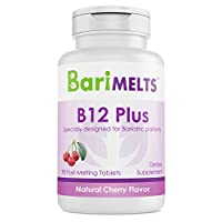 BariMelts B12 Plus, Dissolvable Bariatric Vitamins, Natural Cherry Flavor, 90 Fast...