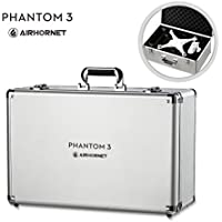 DJI Phantom 3 Carrying Case, Airhornet Aluminum Carrying Case for DJI Phantom 3 /Standard/Professional/ Advanced/ 4K , silver