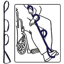 "Kinsman Enterprises 31061 Leg Lifter with Pre-Formed Foot Support, 40"" Length, Regular Quad, Navy"