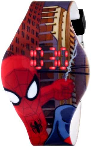 Marvel Ultimate Spider-Man  Kids' SPD1432 Digital Display Analog Quartz Brown Watch