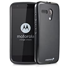 Fosmon® Motorola Moto G (DURA-FRO Series) Flexible TPU Case Cover - Fosmon Retail Packaging (Black)