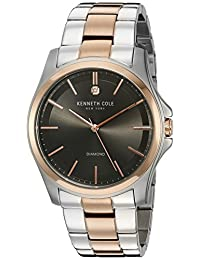"Kenneth Cole New York Men's 10027880 Genuine Diamond ""Rock Out"" Analog Display Japanese Quartz Two Tone Watch"