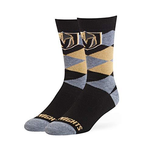 OTS NHL Vegas Golden Knights Mens NHL Blaine Dress SockNHL Blaine Dress Sock, Team Color, Large