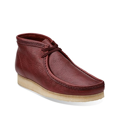 154123aa4a on sale Clarks Wallabee Men's Leather Boots Burgundy 26103606 ...