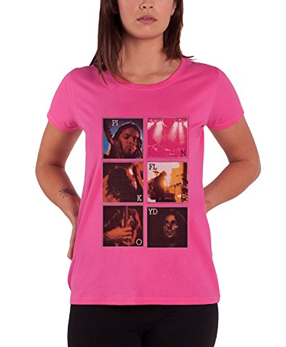 Pink Floyd T Shirt Live Poster Official Womens New Pink