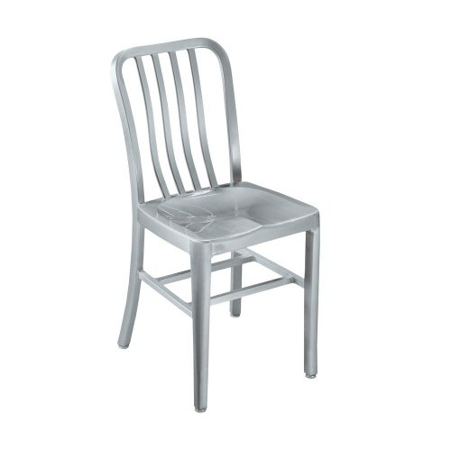 Sandra Side Chair, METAL SEAT, BRUSHED ALUMINM (Aluminum Barrel Crate Stools And)