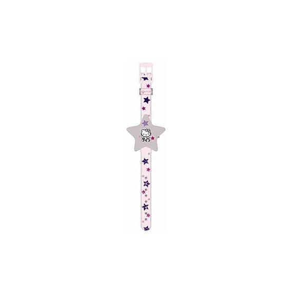 Hello Kitty HK25959 Reloj digital para niña, de cuarzo con correa de plástico multicolor e ilustraciones de Hello Kitty: Amazon.es: Relojes