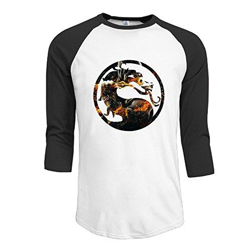 Price comparison product image SAXON Men's Geek Cool Mortal Kombat Raglan Shirt