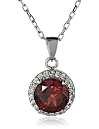 Sterling Silver 8mm Pendant Necklace