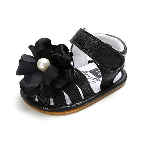 b95609800c7a8 Sakuracan Infant Baby Girls Sandals Flower Non-Slip Soft Rubber Sole ...