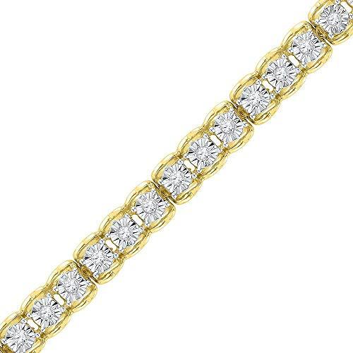 Diamond Tennis Bracelet 1/2ct 10k Yellow Gold
