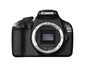 "Canon EOS 1100D - Cámara réflex digital de 12 Mp (pantalla 2.7"", grabación de vídeo), negro - solo cuerpo"