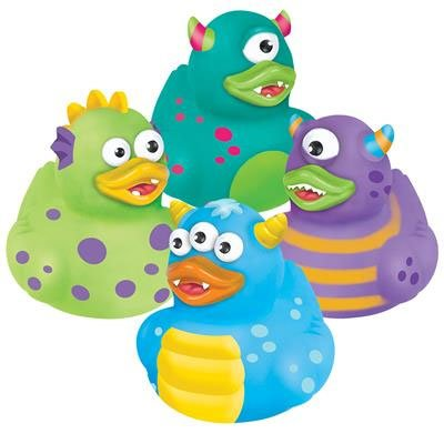 Rhode Island Novelty - Rubber Ducks - MONSTER DUCKIES (Set of 4 Styles)