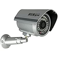 Aposonic A-CDBI03 700 TV-Lines Day and Night CCTV Surveillance Security Weather-proof IR Camera - Silver