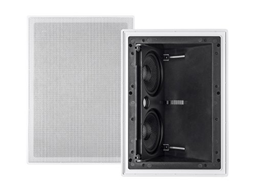 Monoprice Alpha In Wall Surround Speaker Dual 5.25 Inch Carbon Fiber 2-way Vari-Angled (single) -...