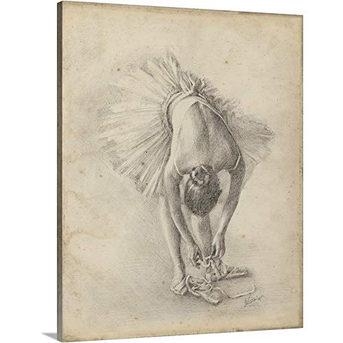 Ethan Harper Premium Thick-Wrap Canvas Wall Art Print entitled Antique Ballerina Study I 16''x20'' by CANVAS ON DEMAND