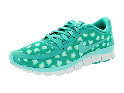 Nike W Nk Free 5.0 V4 Ns Pt - Zapatillas para mujer Lt Retro/Light Aqua/Artsn Teal