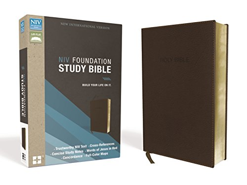 NIV, Foundation Study Bible, Leathersoft, Brown, Red Letter ()