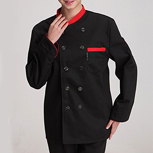 Alta Work Chef 3 Colors Advanced Unisex Zhuhaitf Sleeve Long Black Clothes Uniform calidad Classic AwqZPxxpd