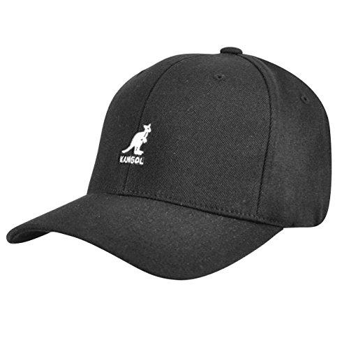 - Kangol Men's Wool Flexfit Baseball Hat, Black, Small/Medium