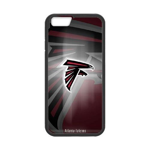 Atlanta Falcons Team Logo coque iPhone 6 4.7 Inch Housse téléphone Noir de couverture de cas coque EBDOBCKCO14311