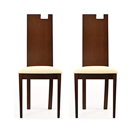 Cozyhomz Dining Chair High Back with Fabric upholstered Seating - Set of 2 (Aray)