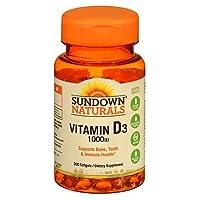 Sundown Naturals High Potency D3 Vitamin D 1000 IU Softgels 200 ea