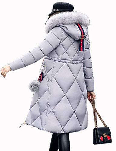 Fit Mode Parka Doudoune Slim avec Trench Hiver Chic Manteau Doudoune Hiver Femme Outerwear Large A86pwHqxx