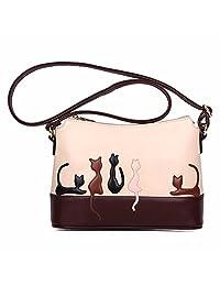 Coromose Women Cat Rabbit Leather Shoulder Bag Cute Handbag